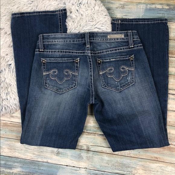 Express Denim - ReRock For Express Bootcut Jeans Size 2 Short